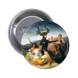 Goya Hexe-Sabbat-Knopf Runder Button 5,7 Cm