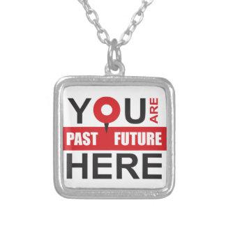 GPS Ihres Lebens - lokalisieren Sie den Moment Versilberte Kette