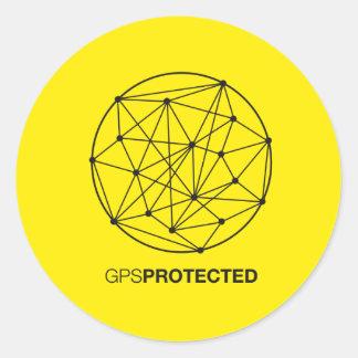 GPS Protected Runder Aufkleber