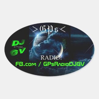 GPs-Radio! Auto-Abziehbild Ovaler Aufkleber
