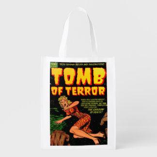 Grab des Terrors der Schatten des Wiederverwendbare Einkaufstasche