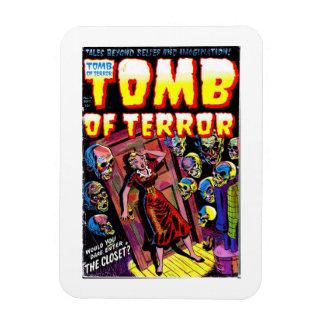Grab des Terrors der Wandschrank-Magnet Magnet