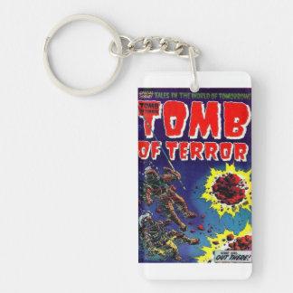 Grab des Terrors, was dort draussen Keychain war Schlüsselanhänger