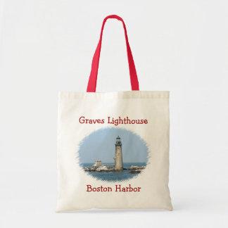 Grab-Leuchtturm-Boston-Hafen-Budget-Taschen-Tasche Budget Stoffbeutel