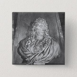 Grab von Charles Le Brun und seine Ehefrau Quadratischer Button 5,1 Cm