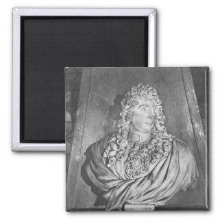 Grab von Charles Le Brun und seine Ehefrau Quadratischer Magnet