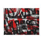 GRABEN - abstrakte Leinwand Gespannter Galerie Druck
