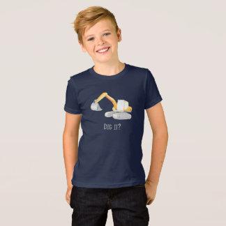 Graben Sie es? Baggerbagger-Jungen-Shirt T-Shirt