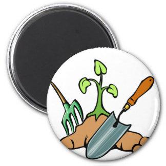 Graben Sie es, Leben ist ein Garten Runder Magnet 5,1 Cm