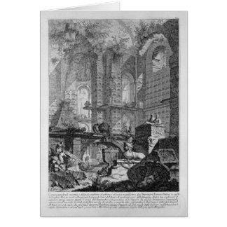 Grabkammer erfunden und in der Übereinstimmung Grußkarte