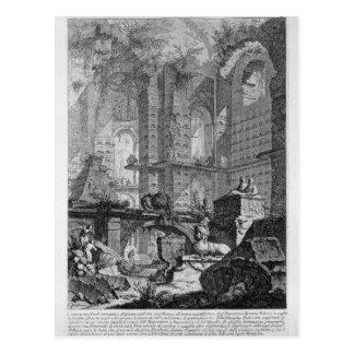 Grabkammer erfunden und in der Übereinstimmung Postkarte