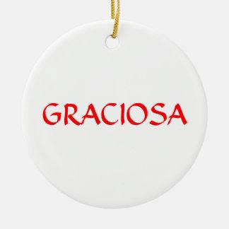 GRACIOSA* kundenspezifische Weihnachtsverzierung Keramik Ornament