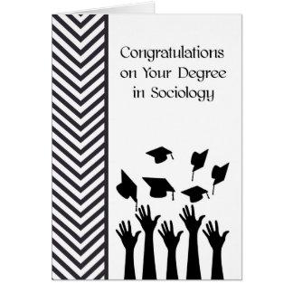 Grad in der Soziologie-Karte Schwarzweiss Karte