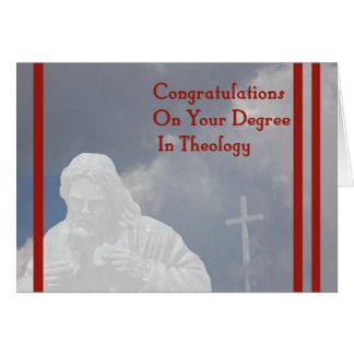 Grad in der Theologie-Karte mit Gott und Kreuz Karte