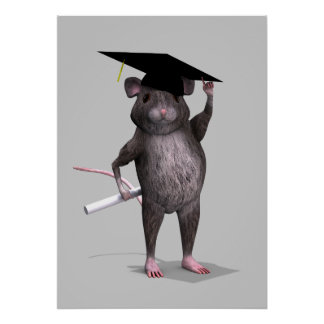 Graduierte Maus Poster