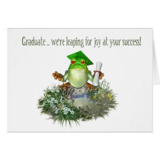 Graduierter Frosch Grußkarte