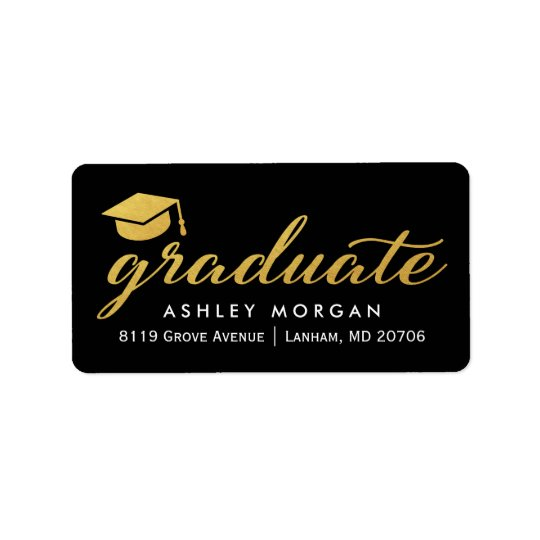 Graduierter Kalligraphie-Skript-Abschluss des Adressetiketten