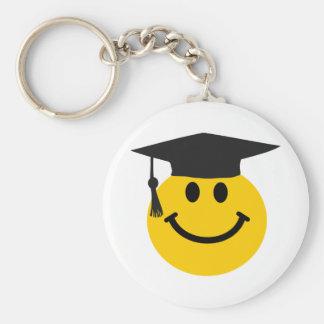 Graduierter Smiley mit Abschlusshut Standard Runder Schlüsselanhänger