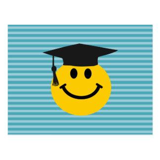Graduierter Smiley Postkarte