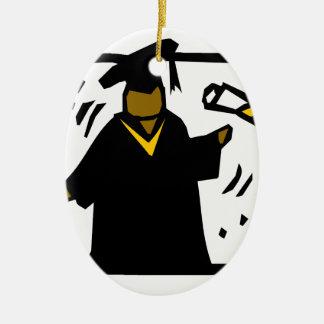 Graduiertes empfangendes Diplom (1) Ovales Keramik Ornament