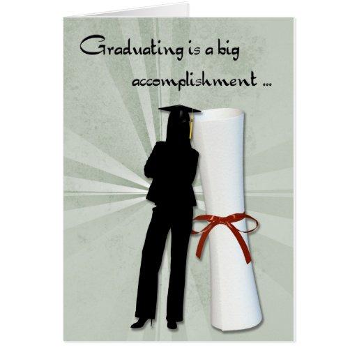 Graduiertes Mädchen-Diplom Grußkarte