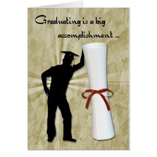 Graduiertes männliches Diplom Karten