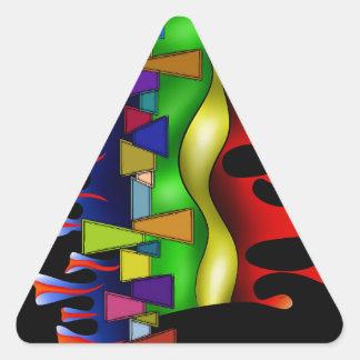 Grafenonci V2 Dreieckiger Aufkleber