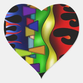 Grafenonci V2 Herz-Aufkleber