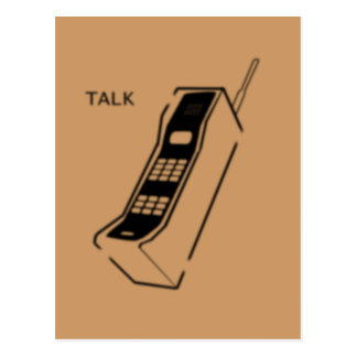 Graffiti-80er Cellphone Postkarte