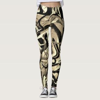Graffiti-abstrakter Tiger-Streifen Leggings