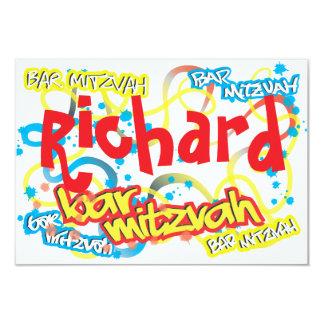 Graffiti-Bar Mitzvah UAWG 8,9 X 12,7 Cm Einladungskarte