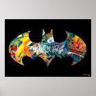 Graffiti Batman-Logo-Neon/80s Poster