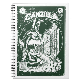 Graffiti - CANZILLA - Retro SciFi Monster Comic Notizblock