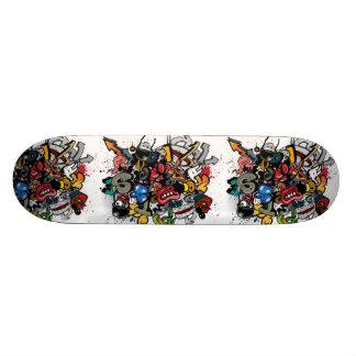 Graffiti-Cartoon Personalisiertes Skateboarddeck