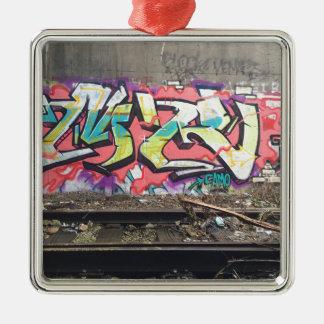 Graffiti Chicago Silbernes Ornament