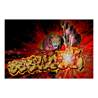 Graffiti, Comic, Superhero Poster