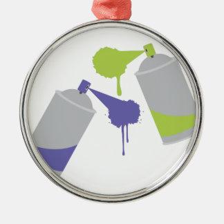 Graffiti-Dosen Silbernes Ornament