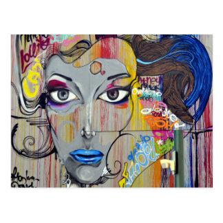 Graffiti-Frau Postkarte