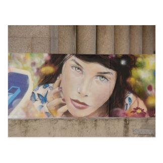 Graffiti im Trier Deutschland Postkarte