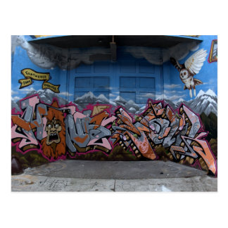 Graffiti in Seattle, WA Postkarte