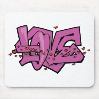 Graffiti-Liebeumbau Mousepads