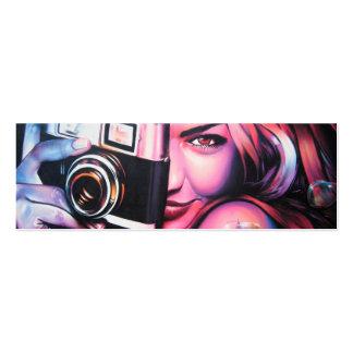 Graffiti-Mädchen-Fotograf Jumbo-Visitenkarten