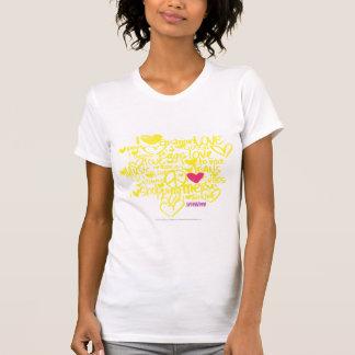 Graffiti Magentarot-Gelb T-Shirt