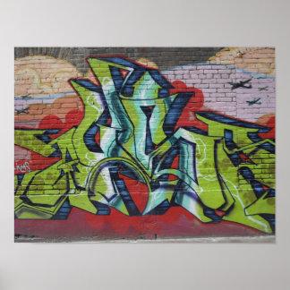 Graffiti-Mauerplakat Poster