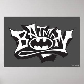Graffiti-Namen-Logo Batmans | Poster
