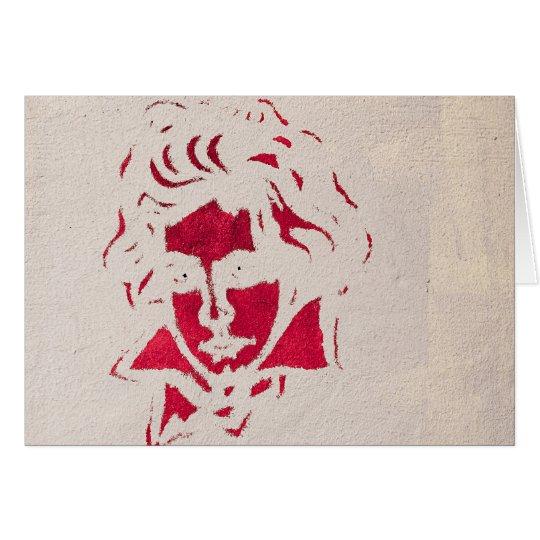 Graffiti of Beethoven Karte