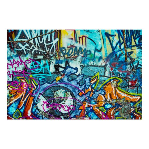 Graffiti Plakatdruck