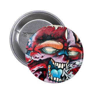 Graffiti-Schädel Runder Button 5,1 Cm