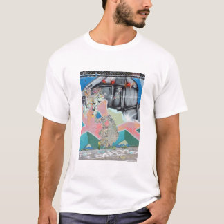 Graffiti überlagern Fotografie T-Shirt