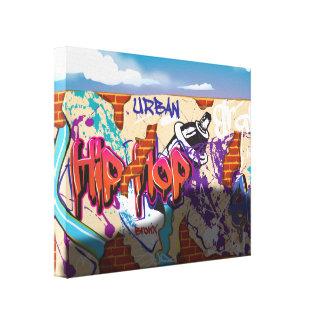 Graffiti ummauern mit Sport-Auto-Schatten Gespannte Galerie Drucke